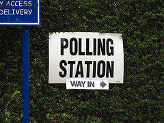 Polling station by Paul Albertella/Flickr https://flic.kr/p/7Z2aa6