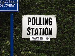 Polling station by Paul Albertella/Flickr https://flic.kr/p/7Z2aa6